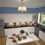 Một căn bếp vừa đảm bảo sự tiện nghi lại rất tinh tế, đẹp mắt